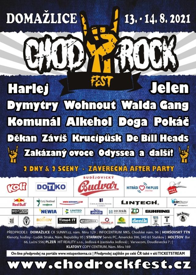 Chodrockfest 2021 namíchá multižánrový koktejl známých jmen hudební scény!