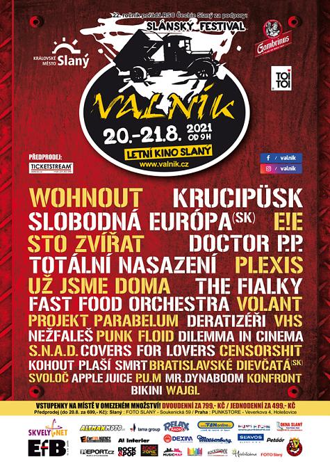 Slánský festival VALNÍK vypukne ve svém 22. ročníku!