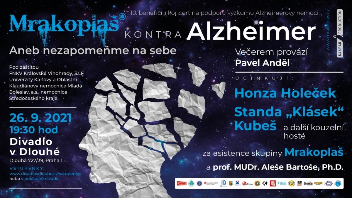 V Divadle v Dlouhé proběhne benefiční koncert Mrakoplaš kontra Alzheimer