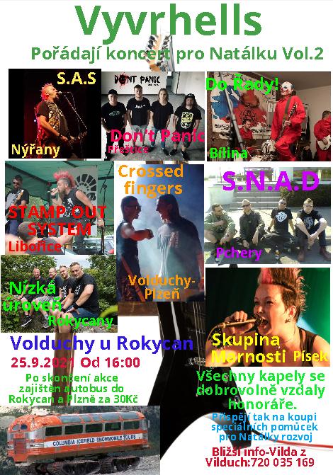 Vyvrhells pro Natálku – druhý ročník punkového festivalu ve Volduchách