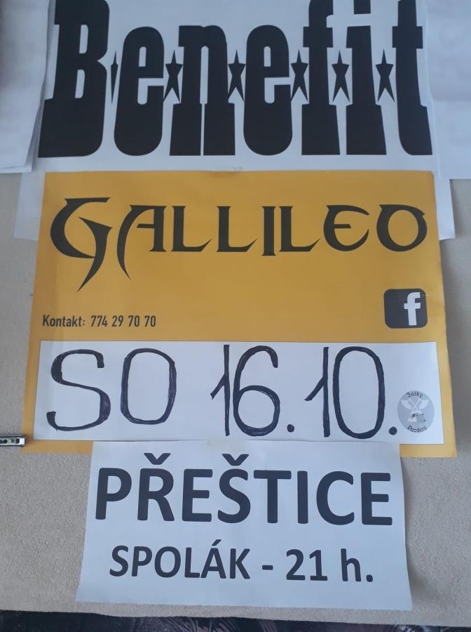 Přeštický Spolák nabídne rockovému publiku dvojkoncert Gallilea a Benefitu